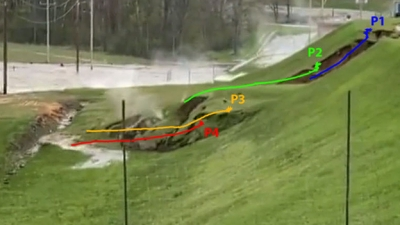 Digital Image Analysis of Video Footage of the May 19 2020 Edenville Dam Failure in Michigan